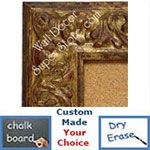 BB1421-1 Ornate Distressed Gold Medium To Extra Large Custom Cork Chalk Or Dry Erase Board