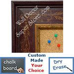 BB1422-1 Distressed Red With Stencil Design  Medium To Extra Large Custom Cork Chalk Or Dry Erase Board
