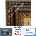 BB1423-2 Distressed Brown With Gold Insert  Medium To Extra Large Custom Cork Chalk Or Dry Erase Board