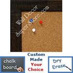 BB1429-1 Espresso Walnut Woven Bamboo Small To Medium Custom Cork Chalk or Dry Erase Board