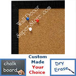 BB1430-5 Black Small Custom Cork Chalk or Dry Erase Board