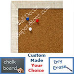 BB1430-7 White Small Custom Cork Chalk or Dry Erase Board
