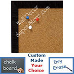 BB1430-8 Dark Burgundy Small Custom Cork Chalk or Dry Erase Board