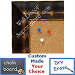 BB1462-1 Walnut Bamboo With Antique Gold Medium To Extra Large Custom Cork Chalk Or Dry Erase Board