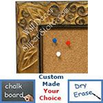 BB1471-2 Antique Distressed Gold With Leaf And Vine Design Medium To Extra Large Custom Cork Chalk Or Dry Erase Board