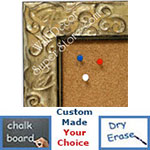 Ornate Design Decorative Chalkboards, Cork, Dry Erase, Combination Or Fabric Boards