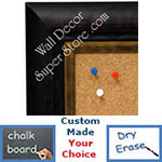 BB1477-3 Dark Coffee With Dark Gold Bronze Insert Medium To Extra Large Custom Cork Chalk Or Dry Erase Board