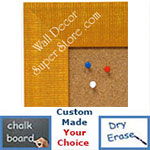 BB1484-2 Yellow Medium To Extra Large Custom Cork Chalk Or Dry Erase Board