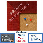 BB1484-3 Red Medium To Extra Large Custom Cork Chalk Or Dry Erase Board