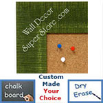 BB1484-4 Green Medium To Extra Large Custom Cork Chalk Or Dry Erase Board