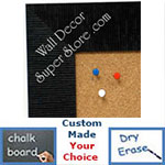 BB1484-5 Black Medium To Extra Large Custom Cork Chalk Or Dry Erase Board