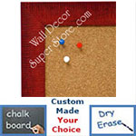 BB1485-3 Red Custom Cork Chalk or Dry Erase Board Medium To Large