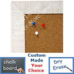 BB1485-7 White Custom Cork Chalk or Dry Erase Board Medium To Large