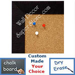 BB1485-8 Burgundy Custom Cork Chalk or Dry Erase Board Medium To Large
