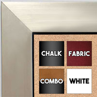 BB1494-2 Brushed Silver With Black Medium To Extra Large Custom Cork Chalk Or Dry Erase Board