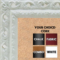 BB1505-1 Ornate White Medium Wall Board Cork Chalk Dry Erase