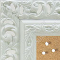 BB1505-2 Ornate White Extra Large Wall Board Cork Chalk Dry Erase