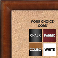 BB1507-2 Pecan Medium Wall Board Cork Chalk Dry Erase