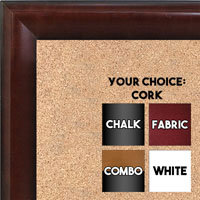 BB1507-3 Walnut Medium Wall Board Cork Chalk Dry Erase