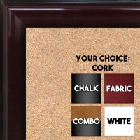 BB1507-4 Cherry Mahogany Medium Wall Board Cork Chalk Dry Erase
