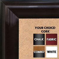 BB1508-1 Espresso Coffee Brown Extra Large Wall Board Cork Chalk Dry Erase