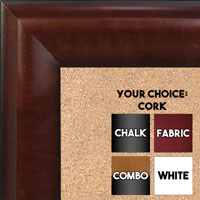 BB1508-3 Walnut Extra Large Wall Board Cork Chalk Dry Erase