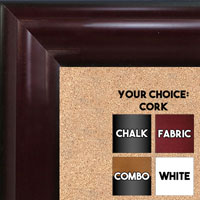 BB1508-4 Cherry Mahogany Extra Large Wall Board Cork Chalk Dry Erase