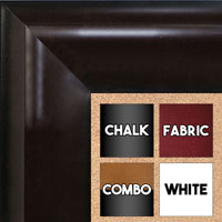 BB1509-1 Espresso Coffee Brown Extra Extra Large Wall Board Cork Chalk Dry Erase