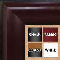 BB1509-4 Cherry Mahogany Extra Extra Large Wall Board Cork Chalk Dry Erase