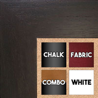 BB1510-1Espresso Coffee Brown Wood Grain Large Custom Wall Boards Chalk Cork Dry Erase