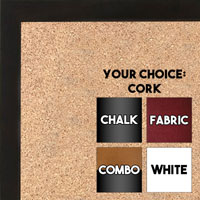 BB1511-10  Espresso Coffee Stained Maple - Small Custom Cork Chalk or Dry Erase Board