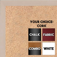 BB1511-1  Light White Stained Maple - Small Custom Cork Chalk or Dry Erase Board