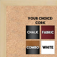 BB1511-2  Natural Maple - Small Custom Cork Chalk or Dry Erase Board