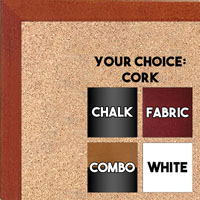 BB1511-3  Honey Stained Maple - Small Custom Cork Chalk or Dry Erase Board