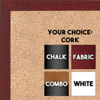 BB1511-4  Cherry Stained Maple - Small Custom Cork Chalk or Dry Erase Board