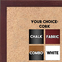 BB1511-5  Mahogany Stained Maple - Small Custom Cork Chalk or Dry Erase Board
