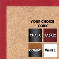 BB1511-7  Red Stained Maple - Small Custom Cork Chalk or Dry Erase Board