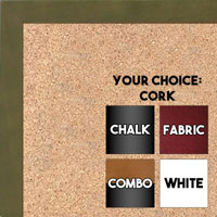 BB1511-8  Green Stained Maple - Small Custom Cork Chalk or Dry Erase Board