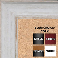 BB1513-1 White Distressed Barnwood - Extra Large Wall Board Cork Chalk Dry Erase