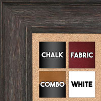 BB1513-3 Walnut Distressed Barnwood - Extra Large Wall Board Cork Chalk Dry Erase