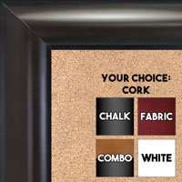 BB1516-1 Espresso Coffee Brown - Large  Wall Board Cork Chalk Dry Erase