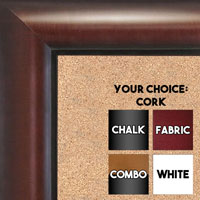 BB1516-2 Walnut - Large Wall Board Cork Chalk Dry Erase