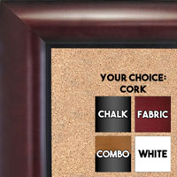 BB1516-3 Mahogany - Large Wall Board Cork Chalk Dry Erase