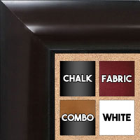 BB1517-1 Espresso Coffee Brown - Extra Large  Wall Board Cork Chalk Dry Erase
