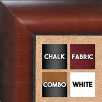 BB1517-2 Walnut - Extra Large  Wall Board Cork Chalk Dry Erase
