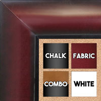 BB1517-3 Mahogany - Extra Large  Wall Board Cork Chalk Dry Erase