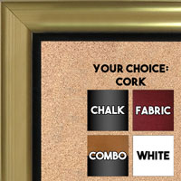 BB1520-3 Gold With  Black Trim Large Wall Board Cork Chalk Dry Erase