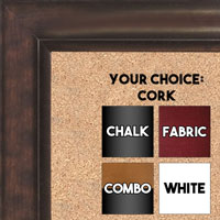 BB1520-5 Bronze Large Wall Board Cork Chalk Dry Erase