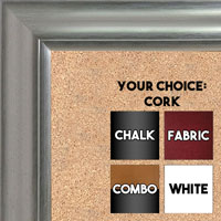 BB1520-6 Pewter Large Wall Board Cork Chalk Dry Erase