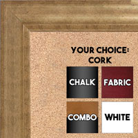 BB1520-7 Soft French Gold Trim Large Wall Board Cork Chalk Dry Erase